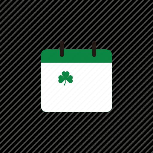 17 maret, calender, date, day, eco, green, icon, ireland, irish, leaf, patrick, patrick's day, saint, saint patrick's day, st patrick, st patrick day icon
