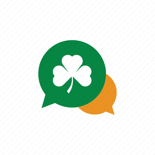 17 maret, buble, chat, communicate, day, eco, green, icon, ireland, irish, leaf, patrick, patrick's day, saint, saint patrick's day, st patrick, st patrick day icon