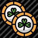 coins, saint, patricks, day, lucky, money, gold