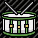 drum, orchestra, instrument, drumstick, music
