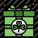 giftbox, cultures, saint, patrick, surprise, celebration