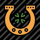 horseshoe, saint, patricks, day, shamrock, holidays, leaf