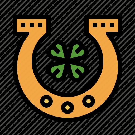 Horseshoe, saint, patricks, day, shamrock, holidays, leaf icon - Download on Iconfinder