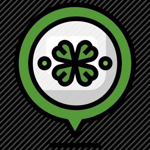 Location, st, patricks, day, maps, irish, shamrock icon - Download on Iconfinder