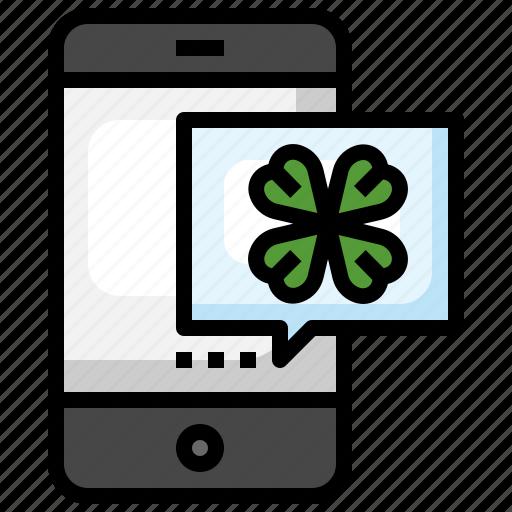 Message, st, patricks, day, saint, patrick, shamrock icon - Download on Iconfinder