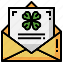 postcard, st, patricks, day, cultures, email