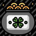 pot, st, patricks, day, gold, cultures, saint