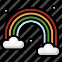 rainbow, sun, st, patricks, day, nature, weather