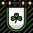 saint, patrick, shamrock, clover, flags, flag
