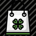 shopping, bag, irish, shamrock, traditional, celebration