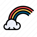 celebrate, cloud, colorful, ireland, irish, rainbow icon