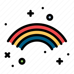 celebrate, cloud, colorful, full, ireland, irish, rainbow icon