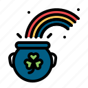 cash, fortune, gold, luck, rainbow, shamrock icon