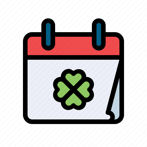 calendar, celebrate, clover, day, leaf, patricks, st icon