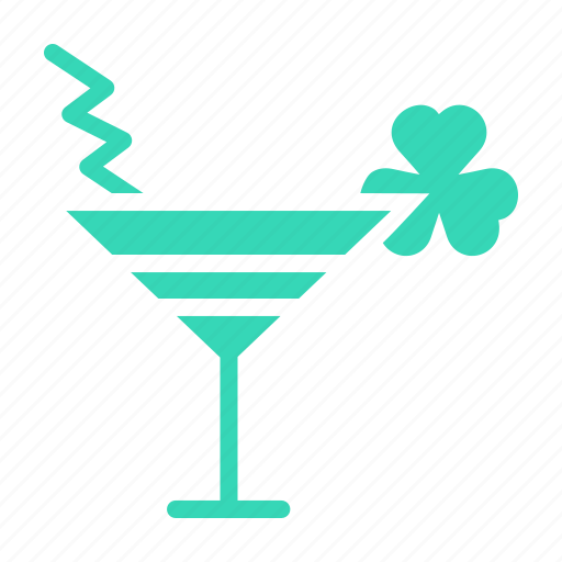 cocktail, day, drink, mocktail, patricks, saint, shamrock icon
