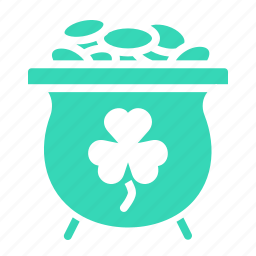day, fortune, gold, luck, patricks, pot, saint icon