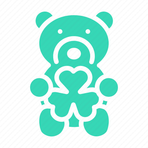 gift, patricks, saint, shamrock, teddy bear, toy icon