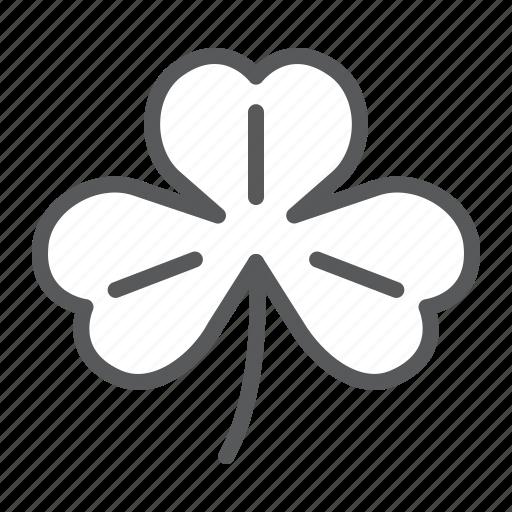 Three, leaf, clover, shamrock, saint, patrick, day icon - Download on Iconfinder
