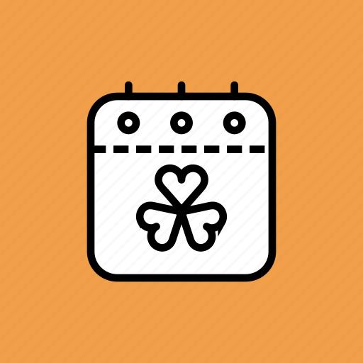 calendar, date, event, festival, patricks, saint, shamrock icon