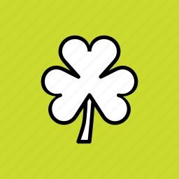clover, day, leaf, patricks, saint, shamrock, three icon