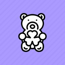 bear, gift, patricks, saint, shamrock, teddy, toy icon