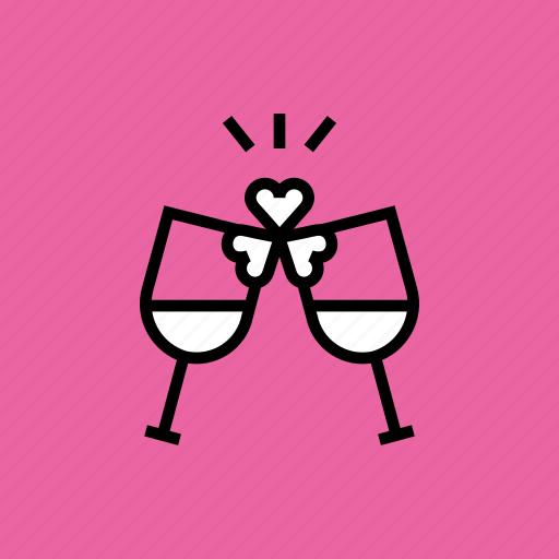 celebrate, cheers, day, party, patricks, saint, wine icon