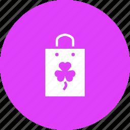 bag, day, patricks, purchase, saint, shop, shopping icon
