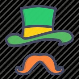 day, hat, irish, leprechaun, moustache, patricks, saint icon