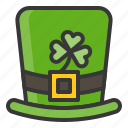 hat, ireland, irish, leprechaun, patrick, saint patrick icon