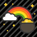 cloud, ireland, irish, patrick, pot, rainbow, saint patrick icon