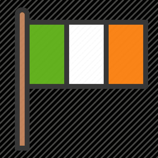 flag, ireland, irish, patrick, saint patrick icon