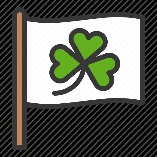 clover, flag, ireland, irish, patrick, saint patrick icon