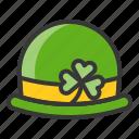 fashion, hat, ireland, irish, patrick, saint patrick icon