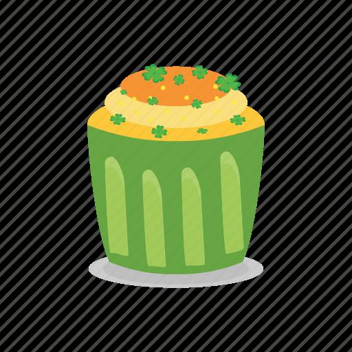 cake, green, ireland, irish, patrick, st icon