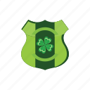 ireland, irish, patrick, shield, st icon