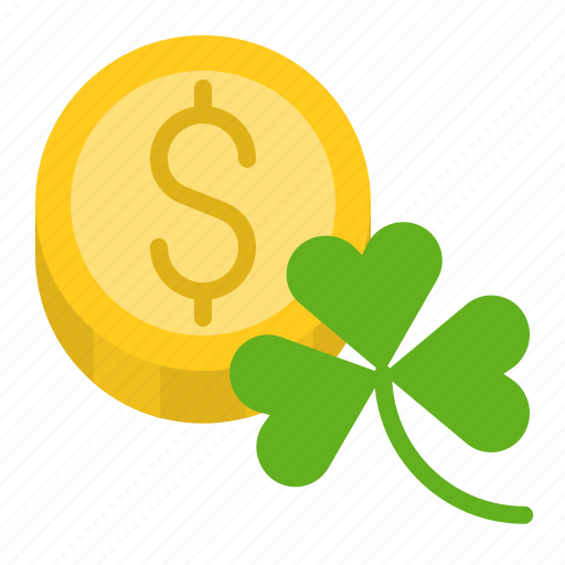 clover, coin, ireland, irish, money, patrick, saint patrick icon