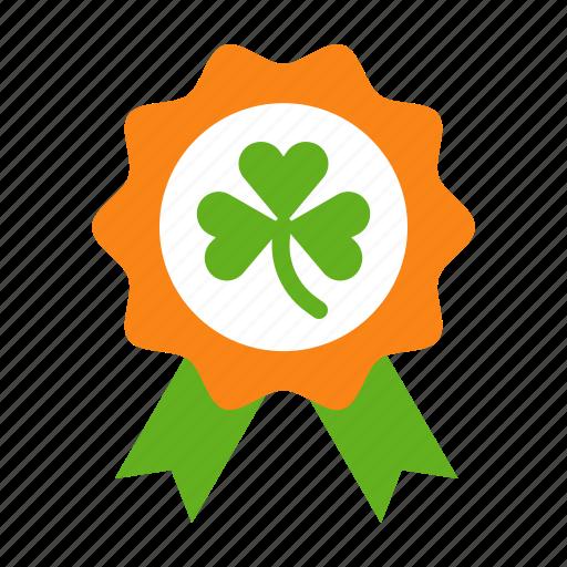badge, clover, ireland, irish, patrick, saint patrick icon