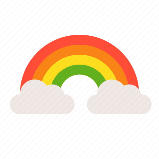cloud, ireland, irish, patrick, rainbow, saint patrick icon