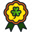 badge, clover, st, patricks, day, shamrock, insignia
