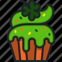 cupcake, st, patricks, day, dessert, clover, shamrock