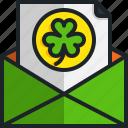 invitation, greeting, card, saint, patricks, day, envelope