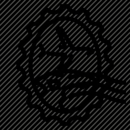 Airplane, grunge, oval, stamp, world icon - Download on Iconfinder