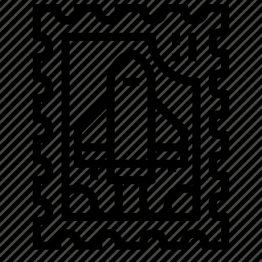 Circle, grunge, rocket, stamp icon - Download on Iconfinder