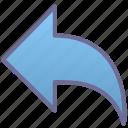 back, previous, undo icon