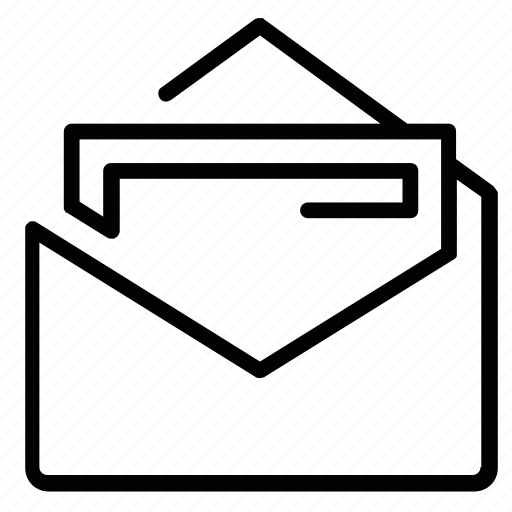 file, letter, mail, open, post, send icon