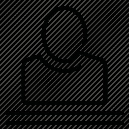 page, person, profile, user icon