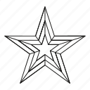award, bright, line, outline, rating, star, success icon