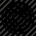 atom molecule, atom structure, atomic model, orbit, space icon