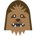 chewbacca, chewie, rebel, star wars, wookie icon