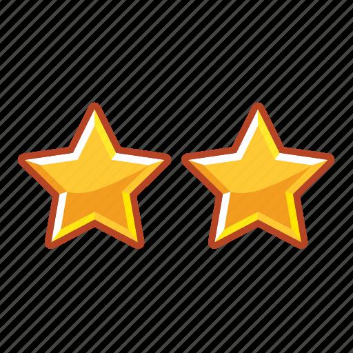 hotel, mark, rank, restaurant, stars, two icon